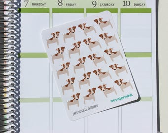 Jack Russell Terrier Stickers (Set of 20 Stickers)