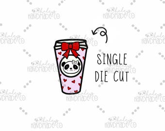 Valentine Coffee Die Cut