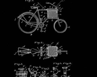 Package Delivery Bicycle Patent # 1050311 Dated January 14, 1913.