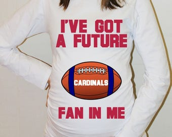 Cardinals Maternity Shirt St Louis Cardinals Baby Future Fan Shirt Baby St Louis Football Maternity Clothing Pregnancy Shirt Baby Shower