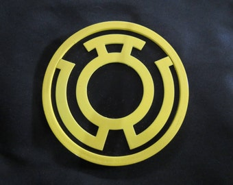 Sinestro Corps 3D Printed Emblem Prop for Cosplay & Costume Green Lantern