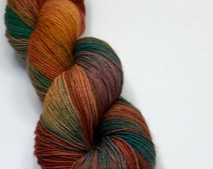 Rust Patina - Hand dyed on BeautiFuL Sock