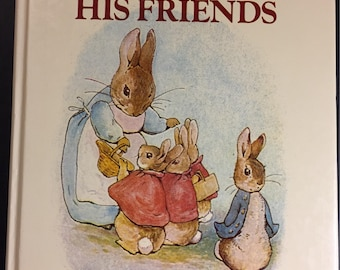 Vintage Beatrix Potter Tales of Peter Rabbit and His Friends, Large Hardcover book