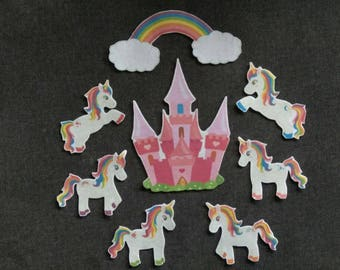 Unicorn Felt Set // Flannel Board // Princesses //  Pretend Play