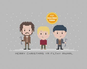 Merry Christmas Ya Filthy Animal Cross stitch - Home Alone Cross stitch Pattern - Christmas Cross stitch - PDF Instant Download