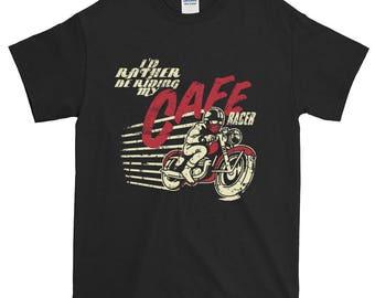 Birthday present cafe racer driver motorcycle rider vintage bike motorbike biker birthday gift tshirt tee shirt