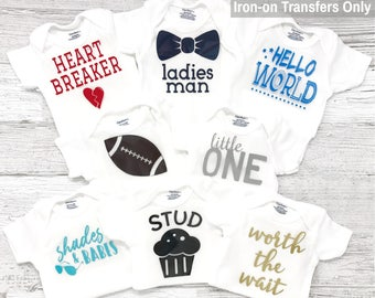 Boy Baby Shower Decorating Station - Group #15 - DIY Iron on Transfers - Set of 8