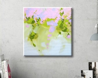 Abstract painting on Canvas Wall Art Abstract Green painting Acrylic Painting Original art Abstract Art on Canvas Modern Art Canvas art