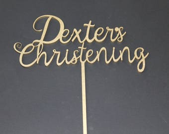 Christening Cake Topper - Personalised