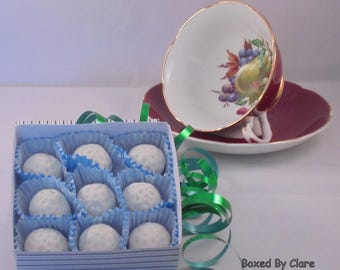 Handmade Marzipan Golf Balls - Golfer - Sweets - Candy - Gift - Present - Fathers Day - Mothers Day
