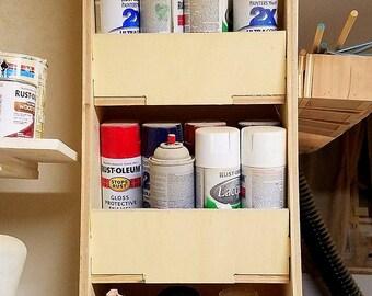 Spray Paint Storage, Rattlecan Storage, Garage Storage Solution, Paint  Cans, Spray Paint