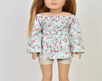 Relaxed Taylor Country Top 18 inch doll clothes