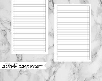 A5/HALF PAGE Printable Checklist - hp104