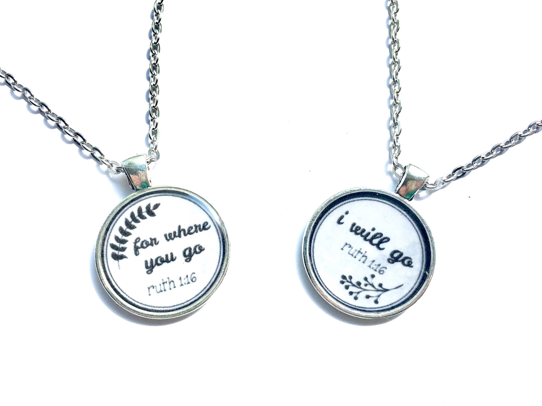ruth u0026 naomi best friend set necklace jw gifts pioneer