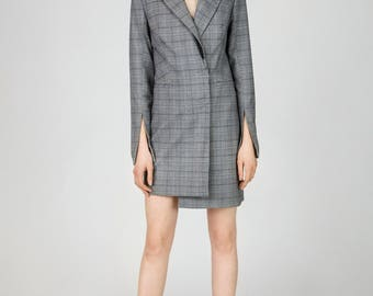 Parris Grey Straight Long Suit Blazer by Other Theory, 18AW024