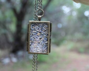 Dried Lavender filled Shadow Box in Antique Bronze