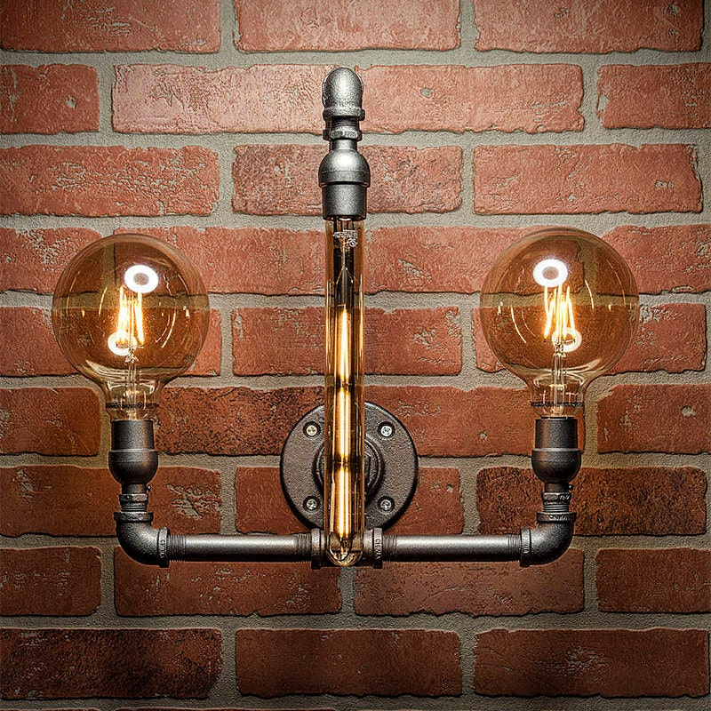 industrial lighting bathroom pipe light lighting pipe sconce light steampunk 13234