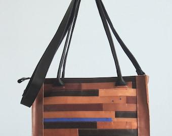 Leather dutch design handbag