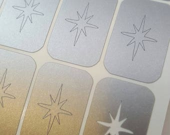 Pointed Star / Decals Nail Vinyls