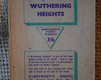 Wuthering Heights. Emily Bronte. Everybody's Pocket Classic. A Vintage Book. 1946