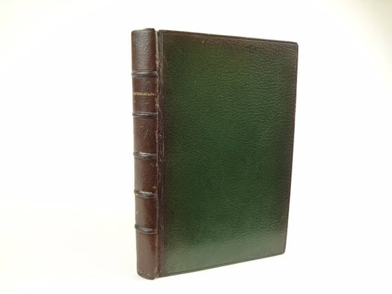 1879 Tennysoniana (2nd ed.), with fine binding by R.W. Smith (later of the Club Bindery)