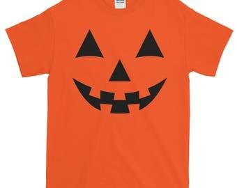 Jack O' Lantern Pumpkin Shirt | Halloween Costume Shirt | Men's Halloween shirt