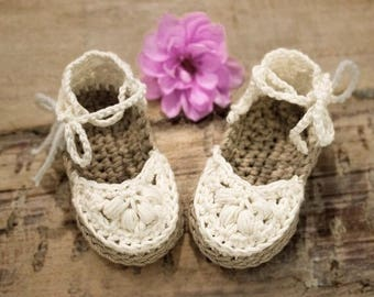 Crochet Pattern, Crochet Sandals Pattern, Crochet Shoes Pattern, Crochet Pattern Espadrilles for Baby Girl, Baby Sandal Pattern