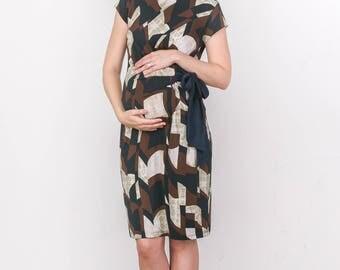 Hello Miz Colorful Adjustable Side Tie Maternity Dress