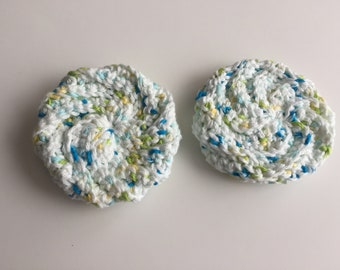 Crochet Tawashi - Cotton Tawashi - Scrubbing Pad - Kitchen Scrubbie - Spiral Scrubbie - Kitchen Accessory