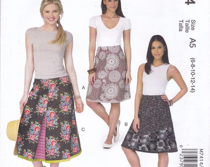 FREE US SHIP McCall's 7414 Sewing Pattern Layered Skirts Kay Whitt Design Size 6/14 14/22 Bust 30 31 32 34 36 38 40 42 44 plus size  New