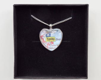Heart Map Necklace - Choose your necklace