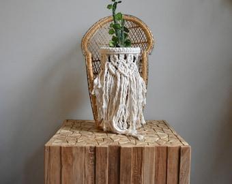 Vintage Woven Wicker Peacock Chair | BOHO Bohemian Plant Stand | Plant Pot Holder | Wicker Fan Peacock Chair