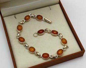 Nostalgic bracelet amber Silver 925 old SA309