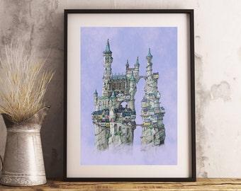 "Fantasy Castle ""Klep Kasteel"" print"
