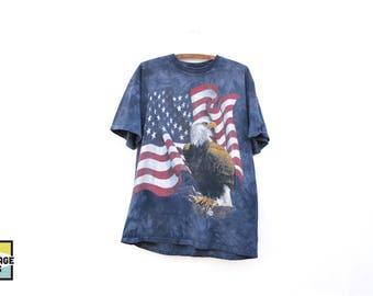 90s Vintage Patriotic American Flag T-Shirt