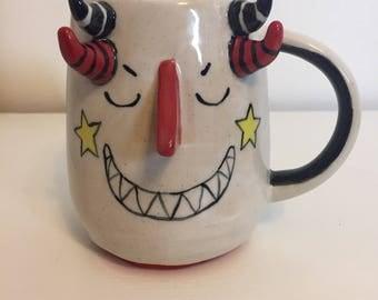 Monster Mug - Jasper - unique pottery mug