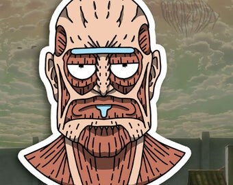 Attack on Rick - Pack of 5 Stickers