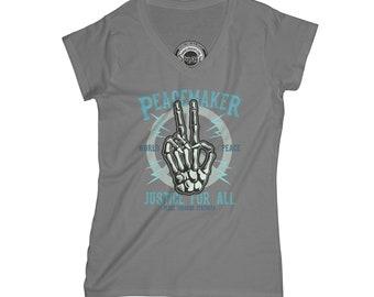 Piece t-shirt peacemaker shirt bones t shirt justice t-shirt grunge t shirt skate park shirt   APV68