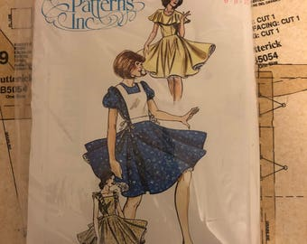 UNCUT Square Dance Dress Sewing Pattern Authentic Patterns 276 Western Wear Size 6 8 10 Full Circular Skirt Fitted Bodice Jewel Neckline