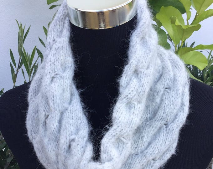 Alpaca luxury snood pale gray by Willow Luxury