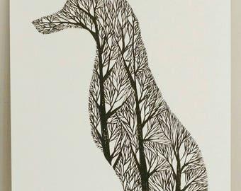 Fox Tree Silhouette V