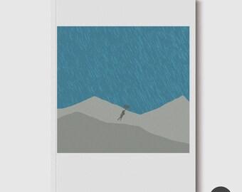 A5 Size Blank Notebook - July Illustration Doodle Pad
