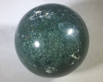 MOSS AGATE Sphere Natural Stone Hand Carved Gemstone Sphere [20]
