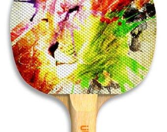 Designer safari ping pong paddle