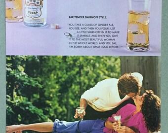 1980 Smirnoff Vodka Print Ad