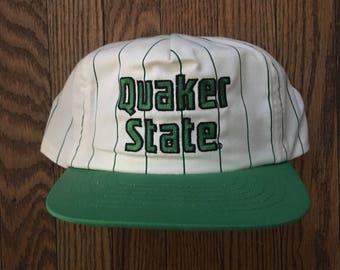Vintage Quaker State Snapback Hat Baseball Cap
