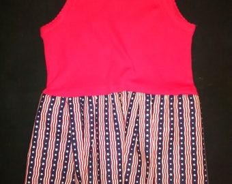 Stars & Stripes Tank Top Onesie Dress