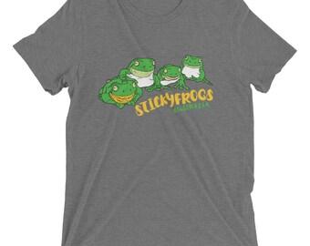 Stickyfrogs Grey Gray Frog T-shirt