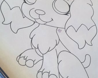 LPS Cocker Spaniel Coloring Page