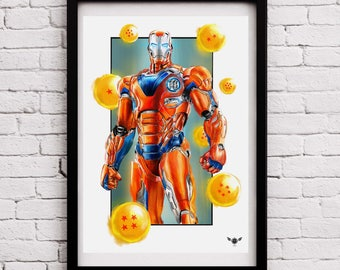 "Limited Edition Print – Mash-Up ""Iron Goku"" V2"